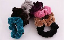 7pcs Women Girls Vintage Velvet Scrunchie Hair accessories Headband 7 colours