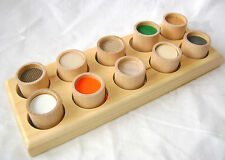 NEW WOODEN TOUCH FEEL 10 PIECE SENSORY PUZZLE MEMORY GAME TOY LEGLER 2064