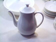 "WEDGEWOOD ALPINE WHITE TEA/COFFE POT 8 1/2"" HIGH"