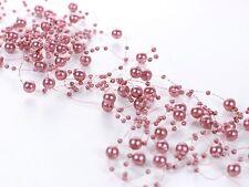 5x Rose Perle Ruban Guirlande Décoration De Table Baptême Confettis Mariage F