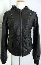 SUPERDRY RAMONA FORCES BOMBER LEATHER JACKET Damen Lederjacke Gr.M NEU + ETIKETT