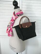 LONGCHAMP LE PLIAGE SAC SHOPPING SMALL TOTE BAG Black PARIS FRANCE