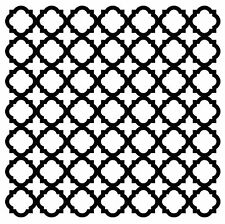 QUATREFOIL Cover A Card Background Unmounted Rubber Stamp Impression Obsession