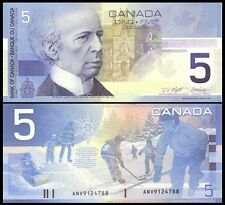 Canada 5 Dollars 2002 P101 UNC (completed set of 4 - 2001, 2003, 2004, 2005)