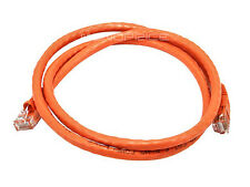 Monoprice 3FT 24AWG Cat6 500MHz Crossover Copper Ethernet Network Cable Orange