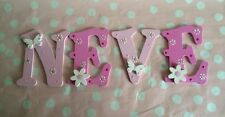 Girls Bedroom Wall Door Decor Individual Wooden Alphabets Any Colour/Theme Gift