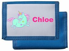 Personalised Child's Unicorn Wallet/Purse *Pink/Blue/Black/Red* Mayzie Designs®
