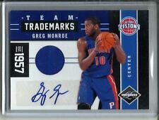 Greg Monroe 11/12 Panini Limited Autograph Game Used Jersey #57/99
