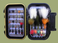40 Early Season Still Water Trout Fishing Flies, Goldhead Nymph and Lures, Boxed