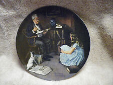 """""""The Storyteller"""" 1984 Knowles Norman Rockwell Collector Plate girl dog book #1"""