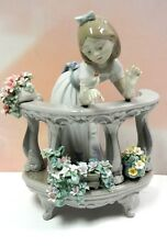 MORNING SONG - GIRL WITH BIRD AND FLOWERS FIGURINE BY LLADRO #6658