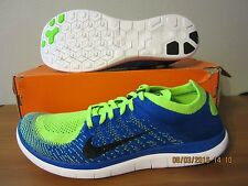 (631053 402) DS Nike Free 4.0 Flyknit royal blue/electric green sz 11 Mens