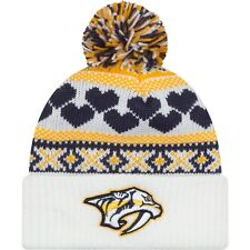 Nashville Predators Winter Cutie Fan Pom Beanie Cap Hat New Era Knit NHL