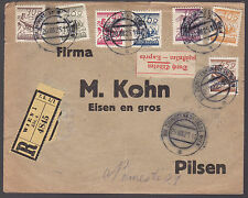 JUDAICA 1925 Firma KOHN Registered Expres Cover from Zionist Congress Wien