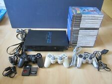 LOT CONSOLE PLAYSTATION 2 PS2 FAT NOIRE + 3 manette dualshock + 18 JEUX GTA etc