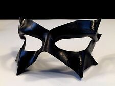 Black Leather Mask Halloween Villian Cosplay Vampire Masquerade CUSTOM MADE