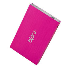 Bipra 100GB 2.5 inch USB 3.0 NTFS Portable Slim External Hard Drive - Pink
