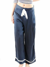 Hamish Morrow Satin Stripe Pants Trousers Blue Size L BCF511