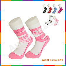 Free Ballet Silly Sock Sneaker Socks Cotton Shoe Print gift Christmas Birthday A