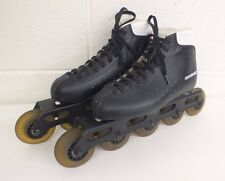 Performance 5-Wheel Black Leather Inline Speed Skates US Men's Size 6 GREAT LOOK