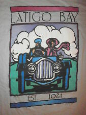 vtg 80s LATIGO BAY T SHIRT Antique Classic Car Auto Model T Malibu California