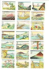 Set of 47 Old Japan c.1960s matchbox labels Fujiyama Artistic Views.