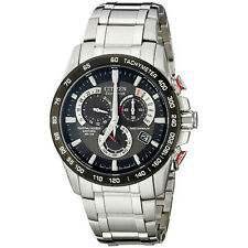 Citizen Mens Eco Drive Steel S/S Atomic Radio Chronograph Watch AT4008-51E