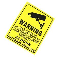 CCTV Video Surveillance Security Burglar Alarm Decal Warning Sticker Sign