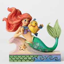 Disney Traditions Jim Shore 2016 Litltle Mermaid ARIEL with Flounder Figurine
