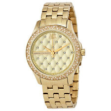 Armani Exchange Lady Hamilton Champagne Dial Gold-plated Unisex Watch AX5216