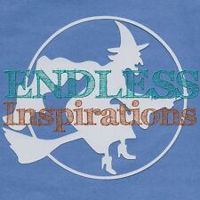 "6""x6"" Endless Inspirations Stencil, Witch Silhouette - Free US Shipping"