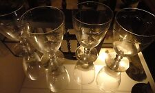 VINTAGE ETCHED LACE STEMWARE,BALL STEM SET OF 4 WINE WATER GLASS