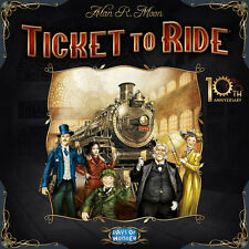 Ticket to Ride: 10th Anniversary [Board Game, Trains & Travel, 2-5 Players] NEW