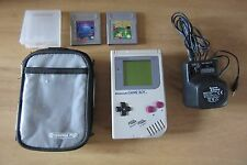 Nintendo Gameboy Original - case, power supply, Tetris Tennis games GOOD SCREEN