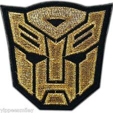 Transformers Gold Autobot Robot Super Hero Car Truck Iron on Patch Logo #0085