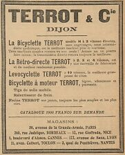 Y8140 Bicyclette à moteur TERROT - Pubblicità d'epoca - 1906 Old advertising