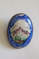 Vintage Painted Birds Cranes? Scandinavian ? Pin