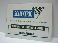 "SCALEXTRIC - Folleto original ""Manual de Instrucciones y Reglamento"", año 1977"