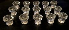 Lot of 15 Vintage Glass Cabinet Knobs Drawer Pulls Beautiful!!