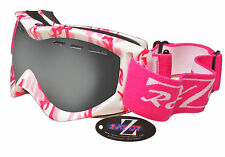 Rayzor Ladies Pink Camouflage Ski Snowboard Goggles Smoke Mirrored Lens RRP£69