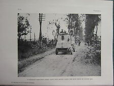 1918 WWI WW1 PRINT ~ CANADIAN ARMOURED LORRY ROYE ROAD AUGUST 9th