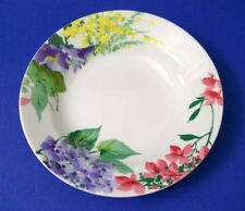 Savoir Vivre Meadow Spendor Soup Bowl Yellow Purple Red Flowers White Interior
