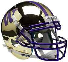 WASHINGTON HUSKIES Schutt AiR XP AUTHENTIC Football Helmet (GOLD/CHROME)