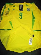 Authentic Ronaldo Brazil Player Issue WC 2002 Jersey Real Madrid Barcelona NEW!