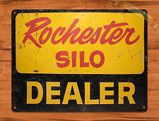 """TIN-UPS TIN SIGN """"Rochester Silo Dealer"""" Farm Rustic Wall Decor"""