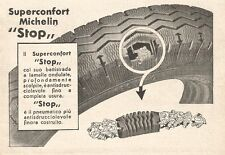 W2440 Pneumatici Superconfort MICHELIN Stop - Pubblicità del 1935 - Old advert