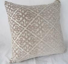 Classic Scrolls Beige & Antique White Cushion Cover ~ 45cm