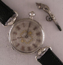 Early ALL ORIGINAL Cylindre'1880 Antique Swiss SILVER Wrist One Perfect Serviced