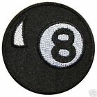 3 INCH BLACK  8 BALL IRON ON  PATCH BUY 2 GET 1 FREE