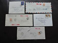 x5 JAPAN 1950s COVERS US COAST GUARD YOKOHAMA ! STAMPS COMMANDER PARKER LOT L@@K